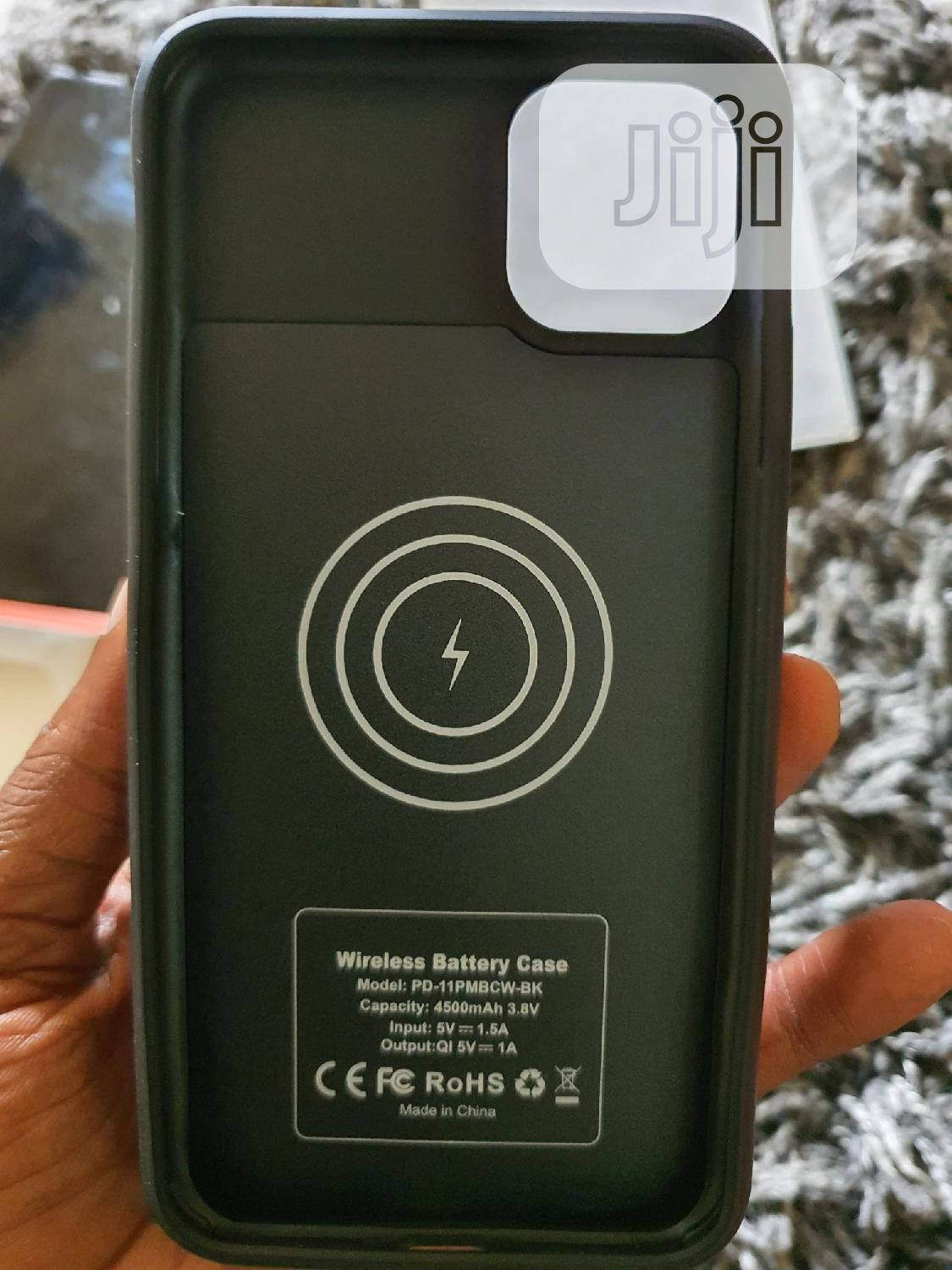 iPhone 11 Pro Max Wireless Battery Case 4500mah | Accessories for Mobile Phones & Tablets for sale in Ikeja, Lagos State, Nigeria