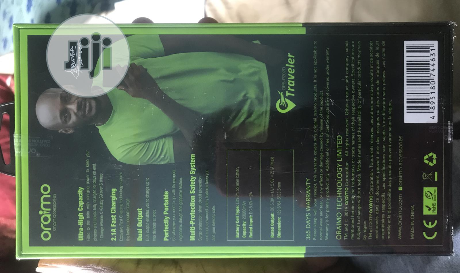 20,000mah Oraimo Powerbank Power Bank | Accessories for Mobile Phones & Tablets for sale in Ibadan, Oyo State, Nigeria