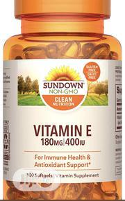 Sundown Vitamin E 400 IU, Non-Gmo, 100 Softgels | Vitamins & Supplements for sale in Lagos State, Lekki Phase 1