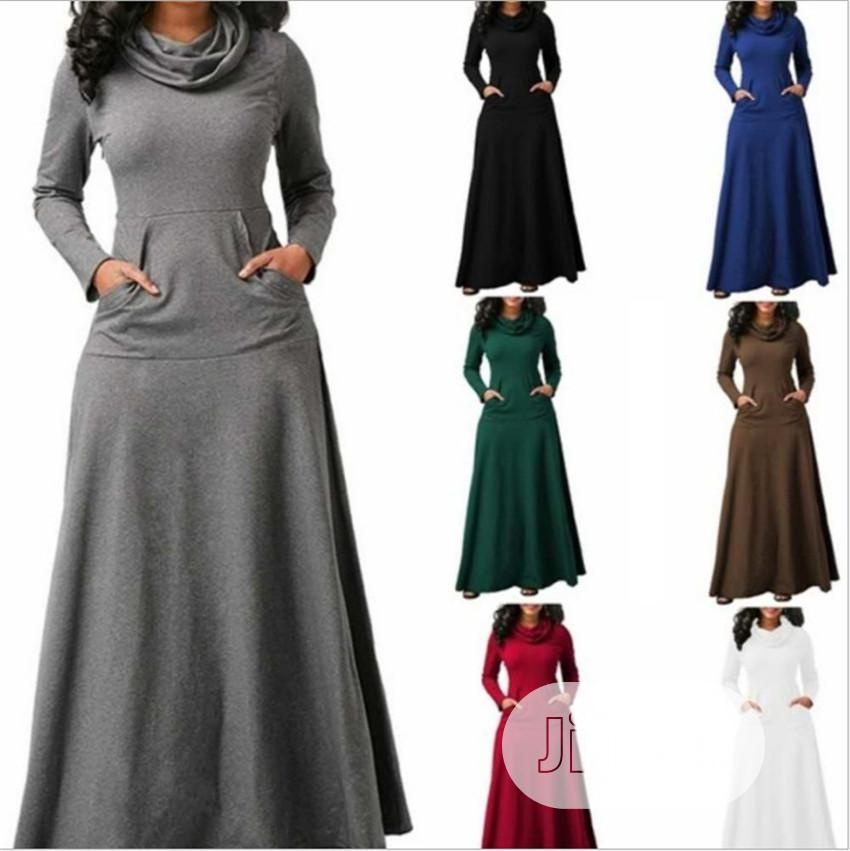 Beautiful Turtle Neck Gown   Clothing for sale in Isolo, Lagos State, Nigeria