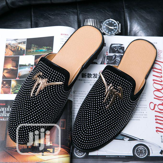 Men's Trend Casual Leather Half Slippers