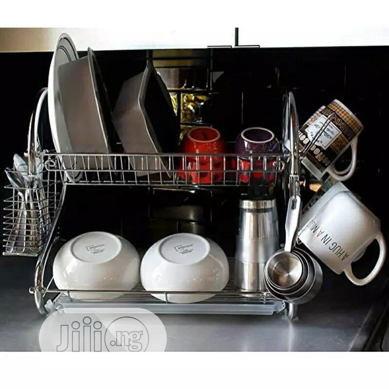 16 Inch Stainless Plate Rack