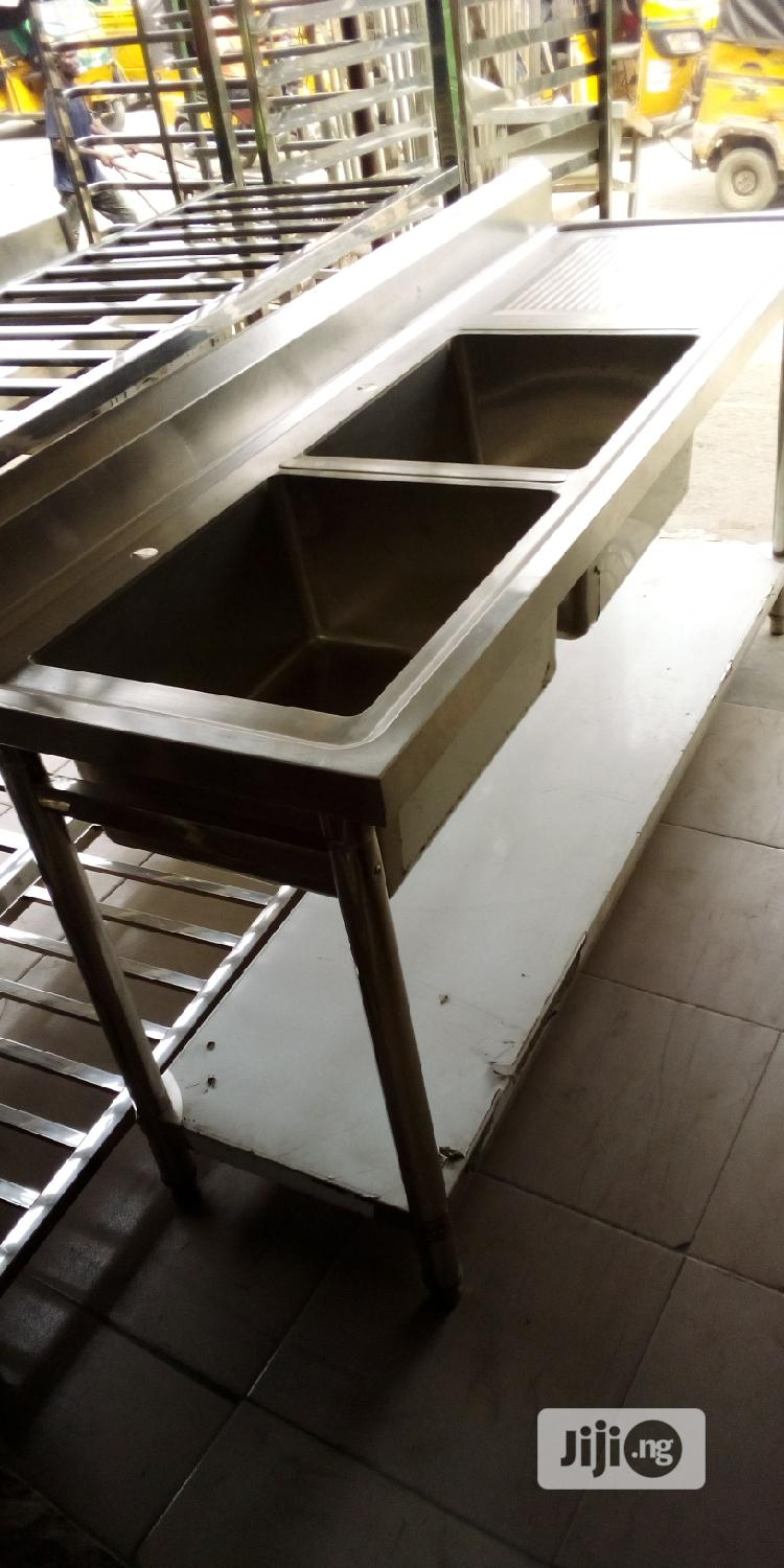 Industrial Stainless Double Watching Sink