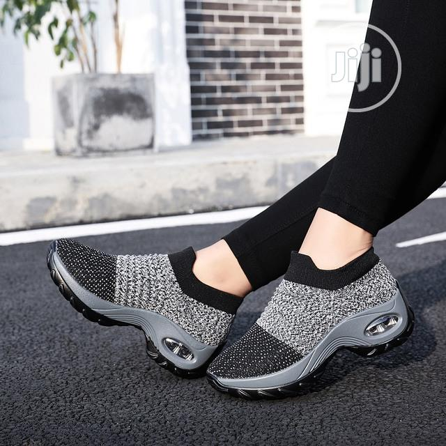 Classy Female Black And Ash Sneakers
