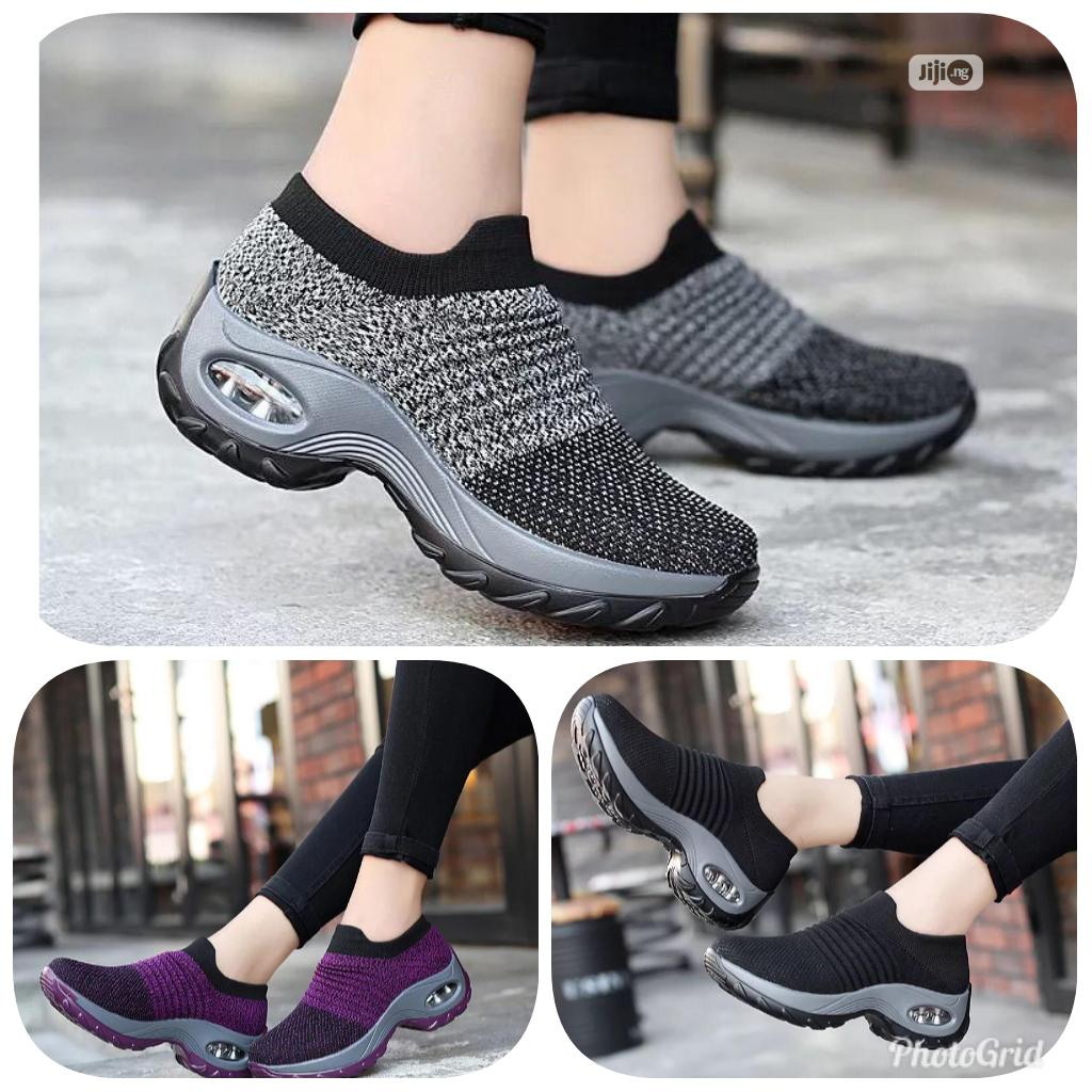Classy Female Black And Ash Sneakers | Shoes for sale in Amuwo-Odofin, Lagos State, Nigeria