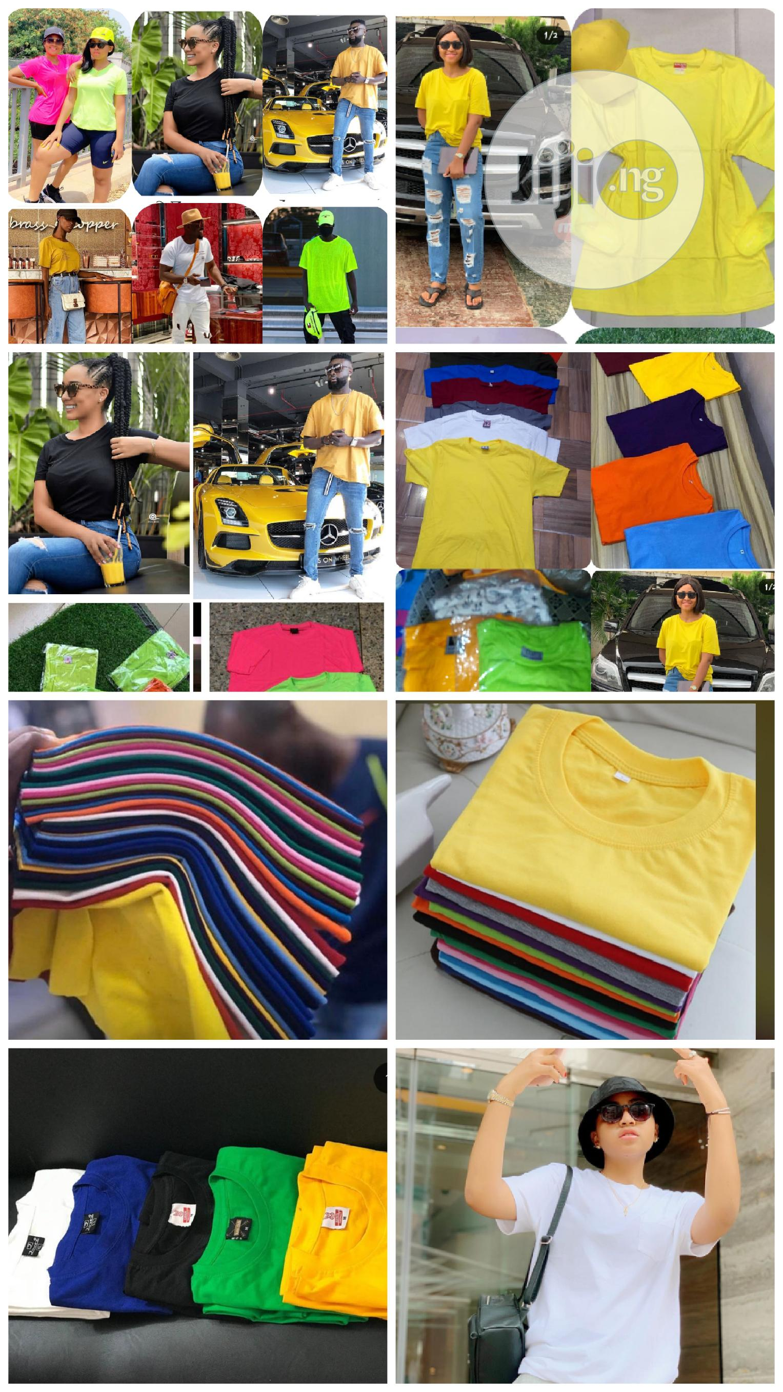 10 Plain Round Neck | Clothing for sale in Ojo, Lagos State, Nigeria