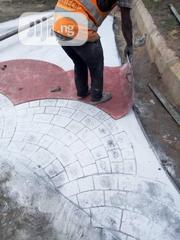 Random Stone Stamp Concrete Floor | Cleaning Services for sale in Lagos State, Gbagada