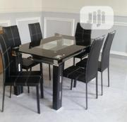 Padded Glass Dining Table And Chairs | Furniture for sale in Lagos State, Ojo