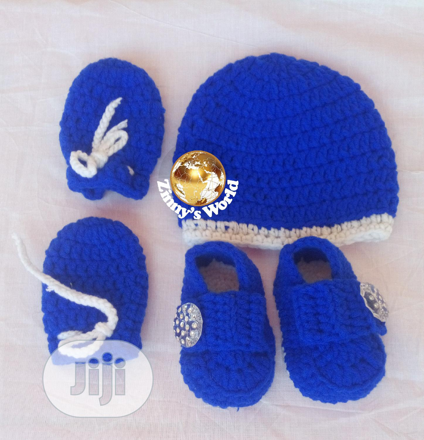 Crochet Baby Shoe, Cap And Hand Glove | Babies & Kids Accessories for sale in Amuwo-Odofin, Lagos State, Nigeria