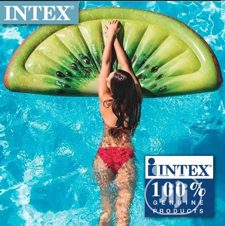 Intex Giant Inflatable 70 Inch Kiwi Slice Mat Swimming Pool Float | Sports Equipment for sale in Amuwo-Odofin, Lagos State, Nigeria