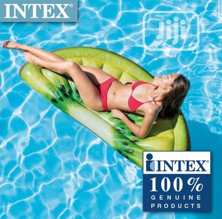 Intex Giant Inflatable 70 Inch Kiwi Slice Mat Swimming Pool Float