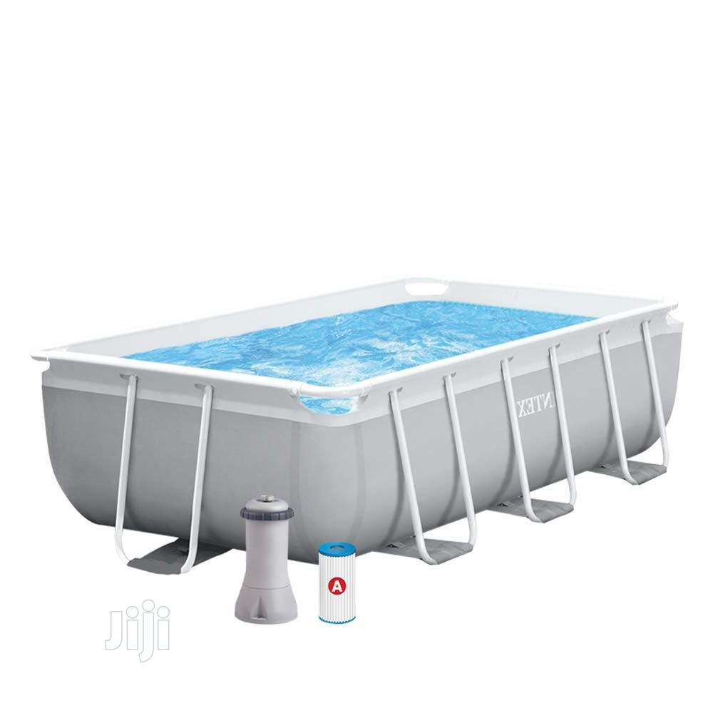 Intex 9*5ft Prism Frame Above Ground Pool Rectangular | Sports Equipment for sale in Ifako-Ijaiye, Lagos State, Nigeria