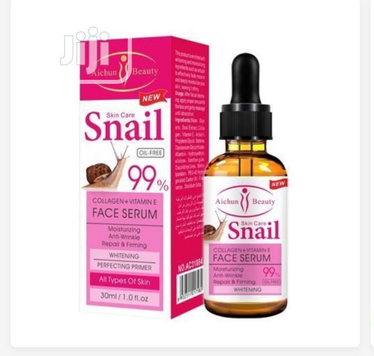 Aichun Beauty Collagen+Vitamin E Snail Face Whitening Serum- 99%