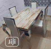 Quality Marble Dining Table With Four Chairs | Furniture for sale in Lagos State, Ikoyi