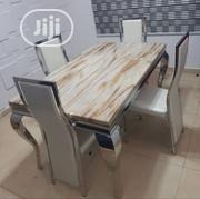 High Quality Marble Dining Table With Four Chairs | Furniture for sale in Lagos State, Ikeja