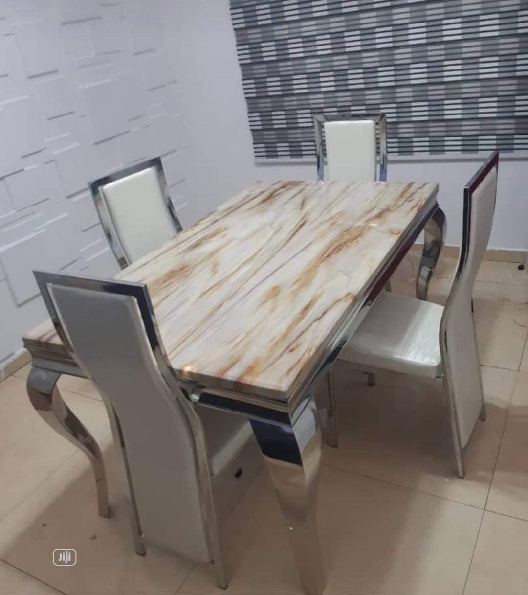 Brand New and Imported 4-Seater Marble Dining Table