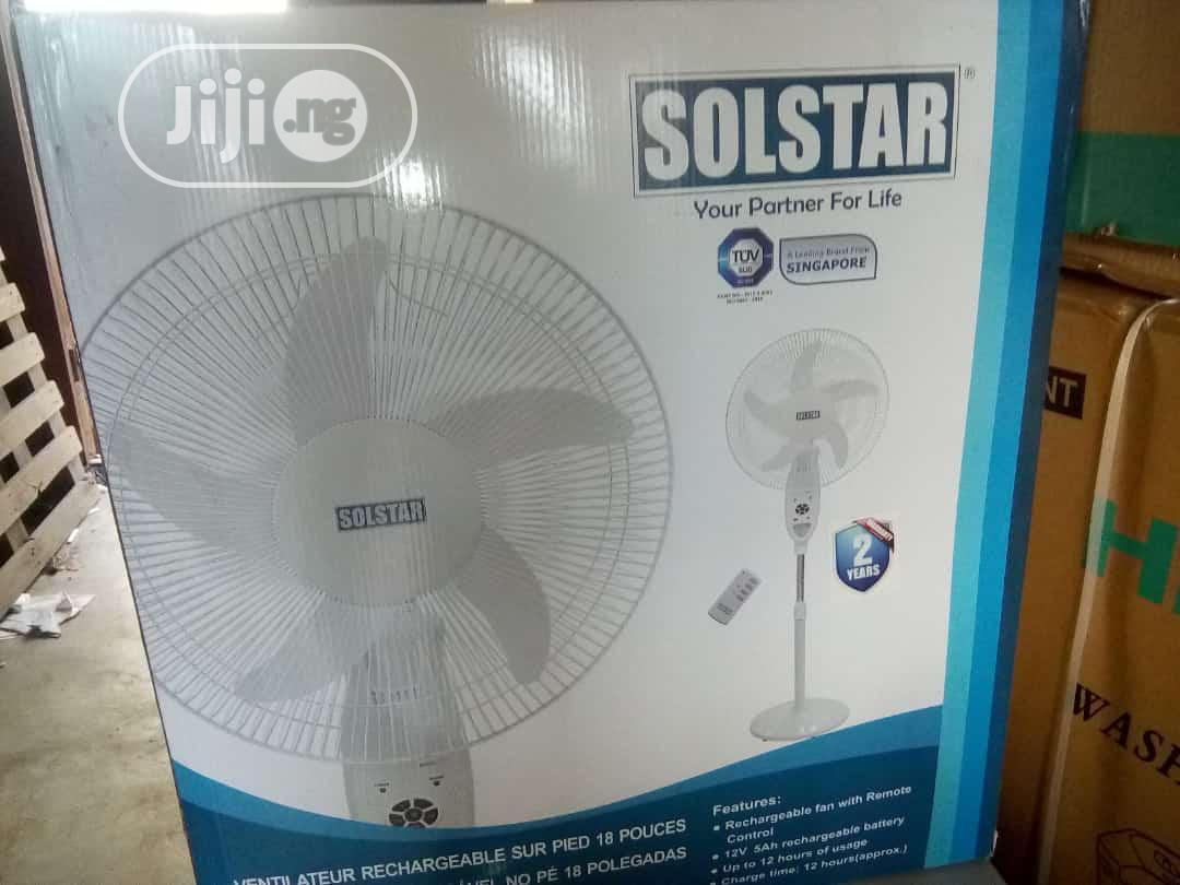 """Solstar Rechargeable Fan 18"""""""