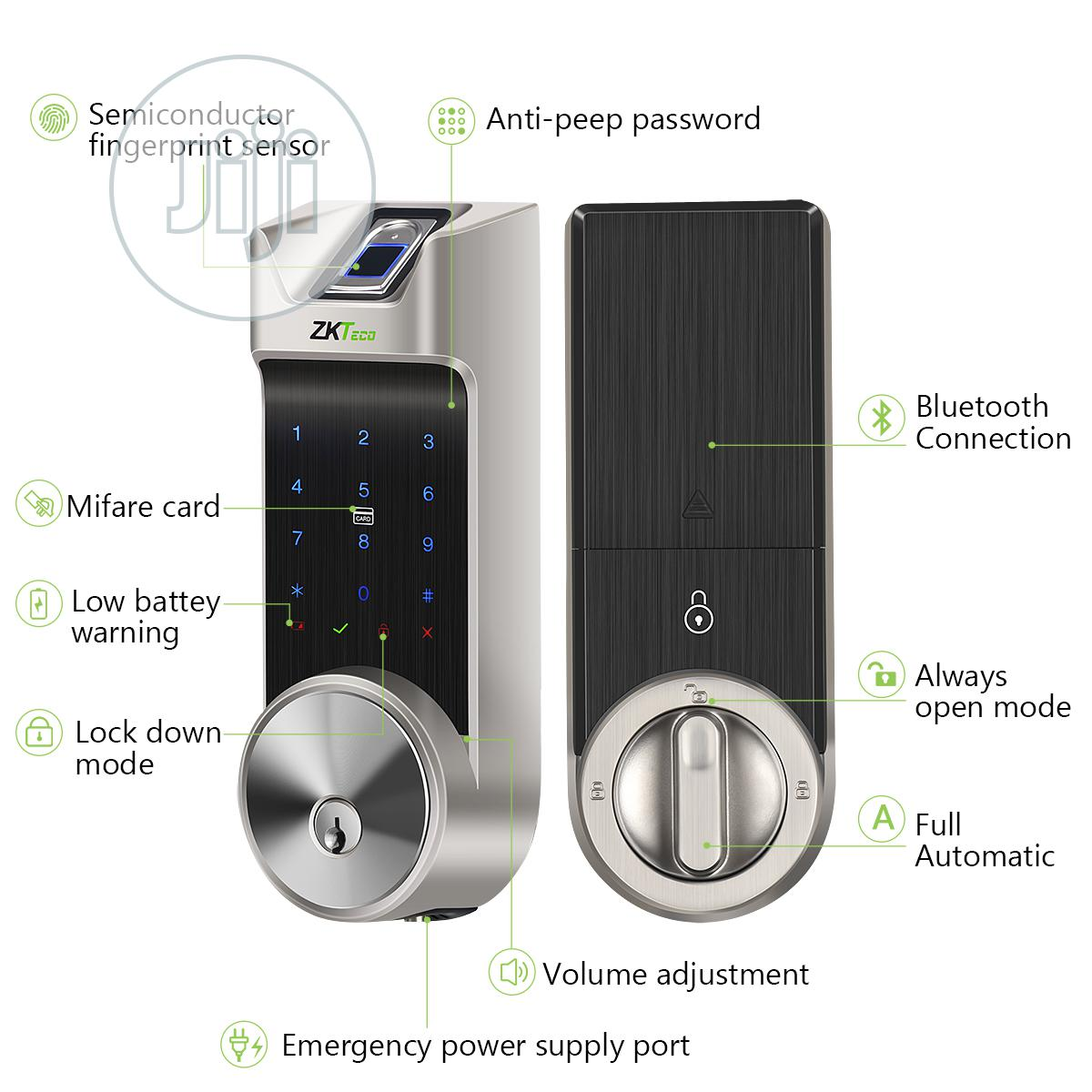 Archive: Zkteco Fingerprint Bluetooth Keyless Smart Biometric Door Lock - AL40B
