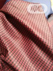 Red Cotton Senator Fabric Material X2 - 1 FREE CUFFLINK | Clothing Accessories for sale in Lagos State, Ikoyi