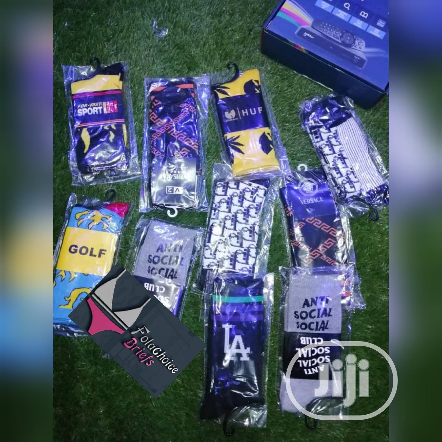 Quality Designer Cotton Socks | Clothing Accessories for sale in Ojodu, Lagos State, Nigeria