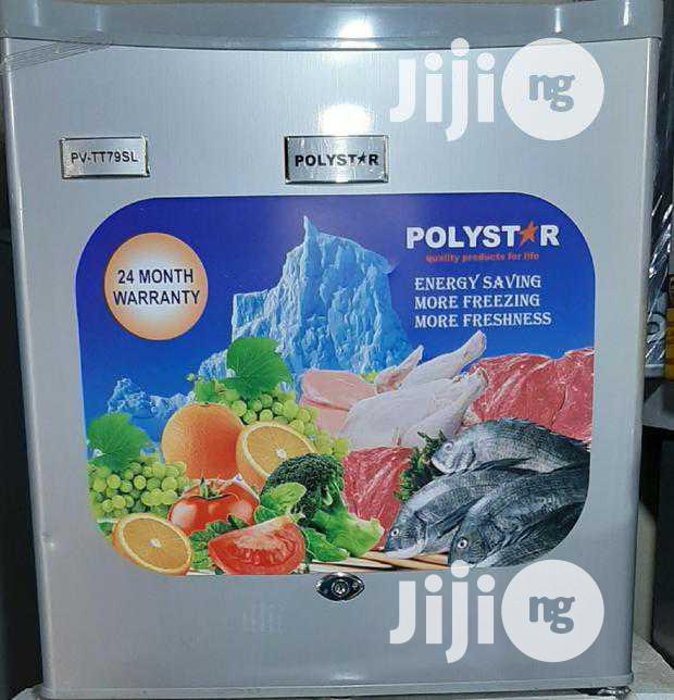 Brand New Polystar Small Fridge PV-TT79SL 2years Warranty | Kitchen Appliances for sale in Ojo, Lagos State, Nigeria