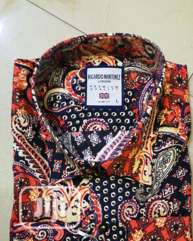 Red Black Vintage Designer's Shirts by Ricardo Martinez   Clothing for sale in Lagos Island, Lagos State, Nigeria