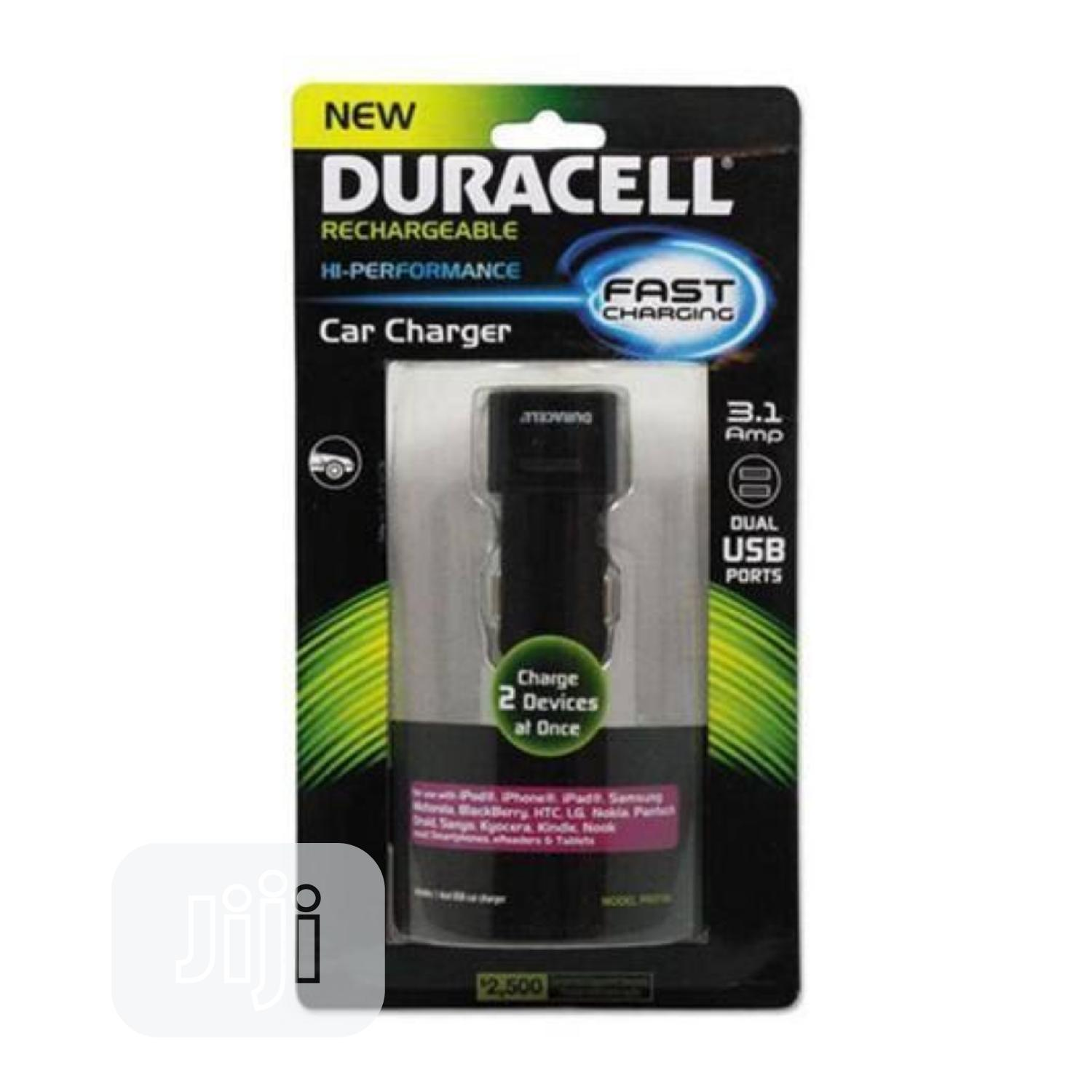 Original Duracell Fast Charging Car Charger