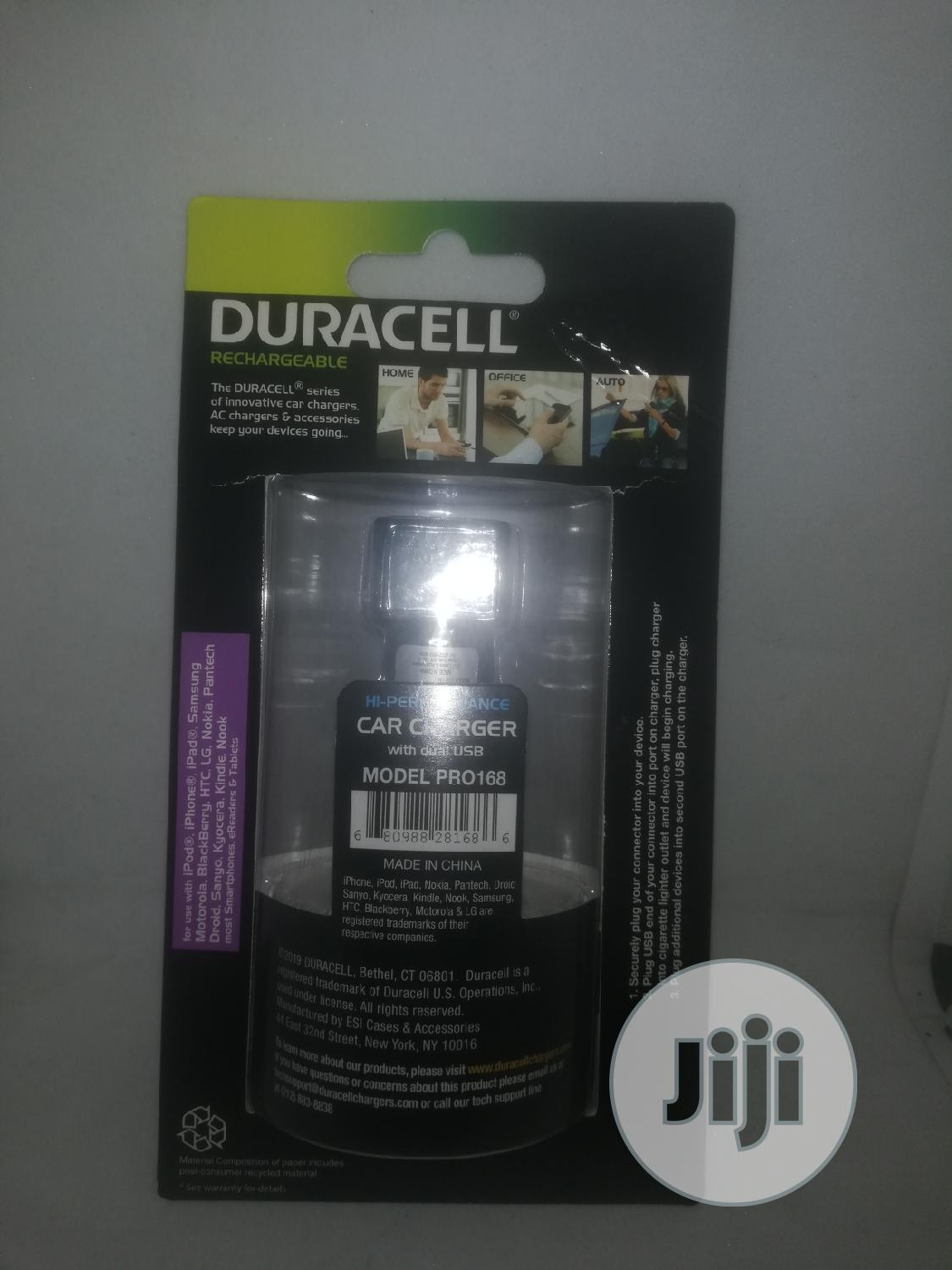 Original Duracell Fast Charging Car Charger | Vehicle Parts & Accessories for sale in Ikeja, Lagos State, Nigeria