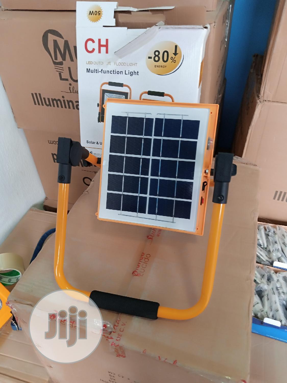 50w Portable Solar Flood Light With USB | Solar Energy for sale in Ojo, Lagos State, Nigeria