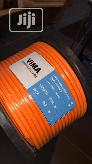 Vima 2 Core Speaker Pure Copper 100metres Yellow Cable. | Accessories & Supplies for Electronics for sale in Lagos State, Ojo