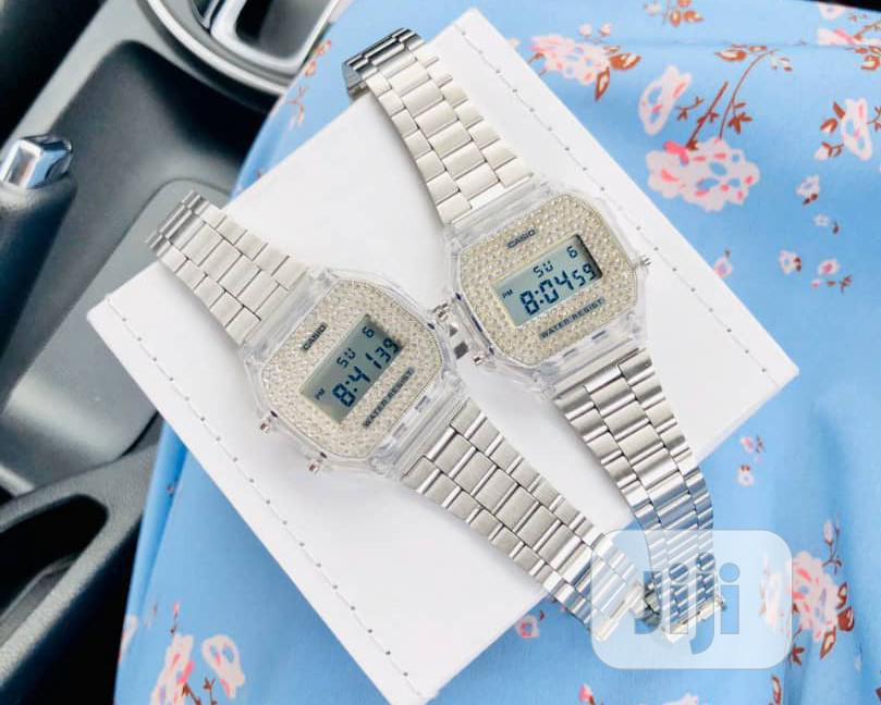 Casio Stoned Silver Watch