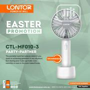"Lontor 3"" Mini Rechargeable Hand Fan 