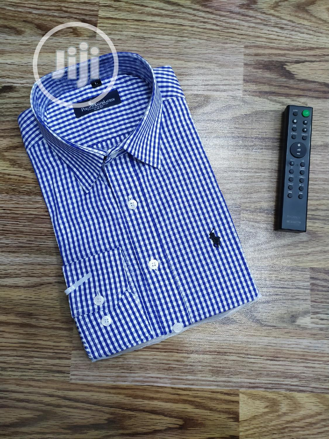 Polo Ralph Lauren Tiny Draft/Check Cutton Shirts | Clothing for sale in Lagos Island, Lagos State, Nigeria