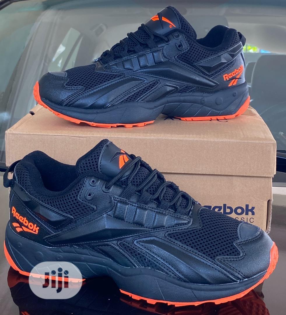 """Reebok Hexalite """"Black-orange Sneakers"""