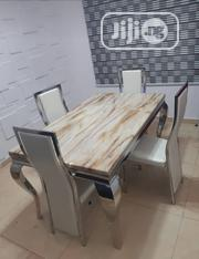 Strong Marble Dining Table With Four Chairs | Furniture for sale in Lagos State, Ikotun/Igando