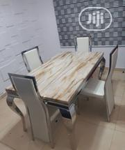 High Quality Marble Dining Table With Four Chairs | Furniture for sale in Lagos State, Lekki Phase 2