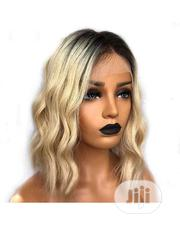 Cute 100% Human Hair Wig With Frontal | Hair Beauty for sale in Lagos State, Ikeja