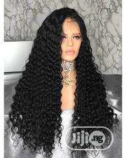 Quality Curly Human Hair Wig With Frontal | Hair Beauty for sale in Lagos State, Ikeja