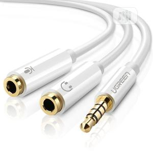 Mic Audio Y Splitter Cable Headset   Accessories & Supplies for Electronics for sale in Lagos State, Ikeja