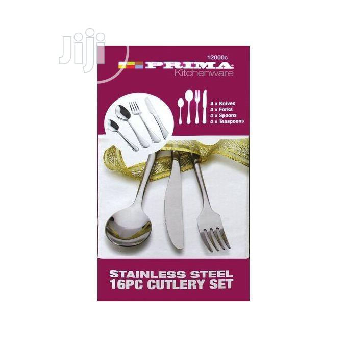 Prima High Quality 16 Piece Stainless Steel Cutlery Set, 2mm Thick