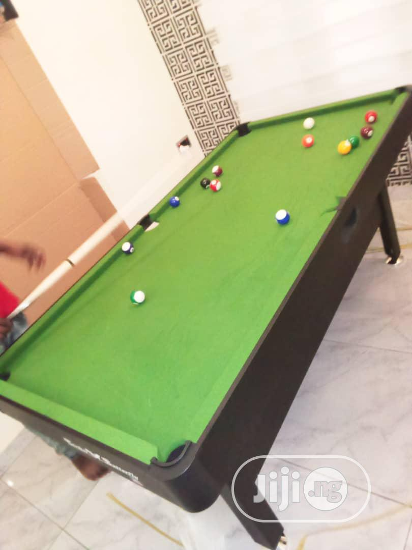 Green Felt 6fit Snooker Board With Complete Accessories