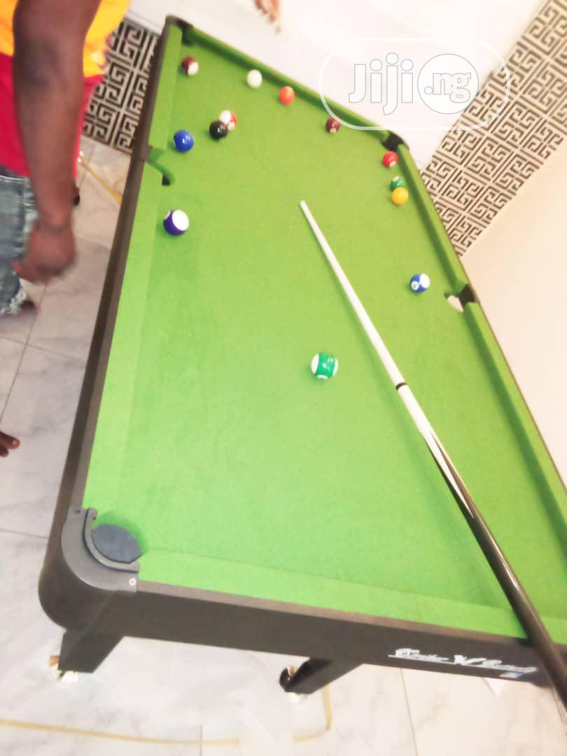 Green Felt 6fit Snooker Board With Complete Accessories | Sports Equipment for sale in Surulere, Lagos State, Nigeria