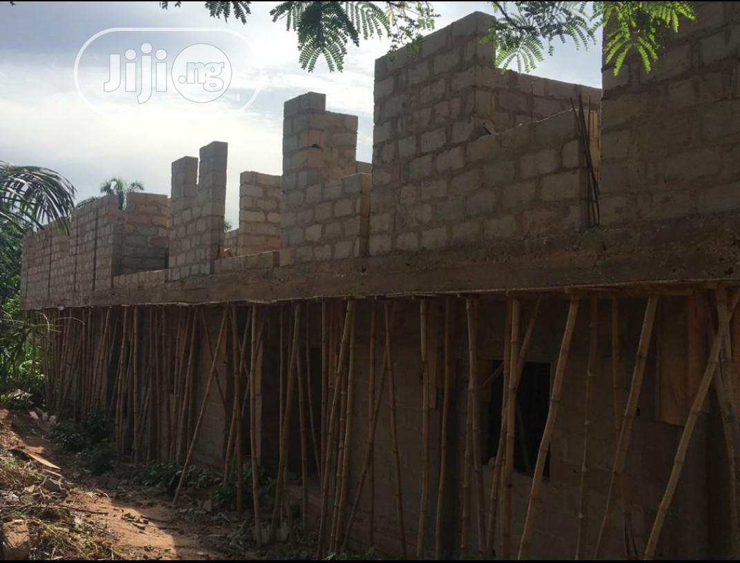 One Plot Of Land With An Uncompleted 2 Storey Building And Borehole