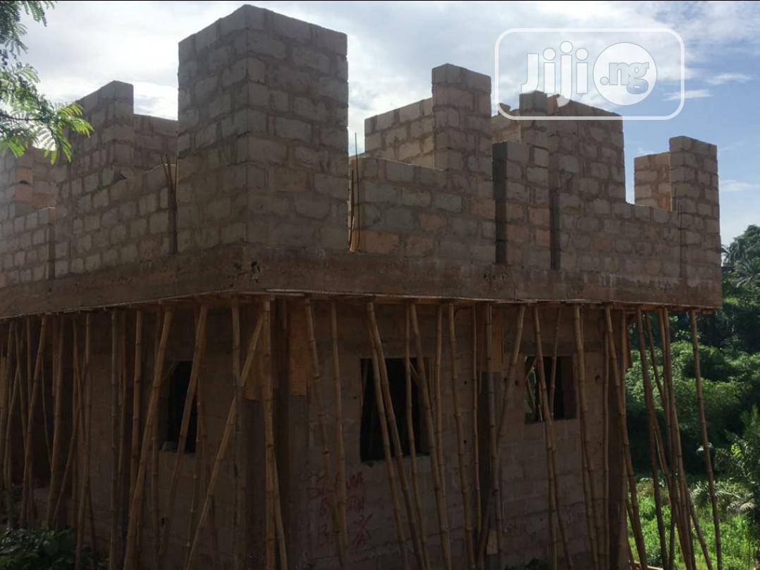 One Plot Of Land With An Uncompleted 2 Storey Building And Borehole | Commercial Property For Sale for sale in Awka, Anambra State, Nigeria