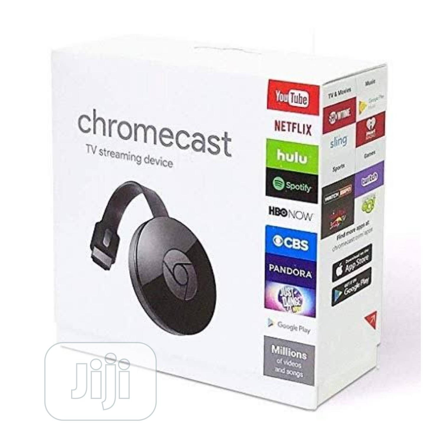 Google Chrome Cast Media Streaming Device.. Black | Accessories & Supplies for Electronics for sale in Ikeja, Lagos State, Nigeria