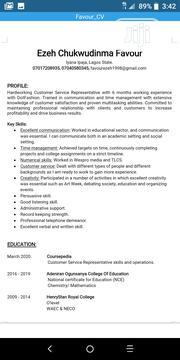 Front Desk Representative | Customer Service CVs for sale in Lagos State, Ikeja