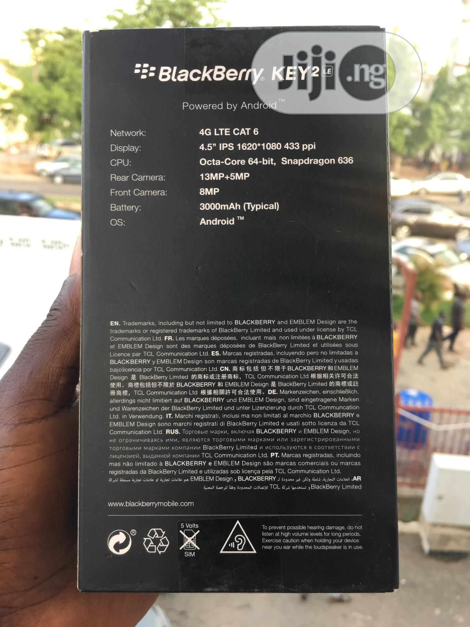 New BlackBerry KEY2 LE 64 GB Black | Mobile Phones for sale in Wuse 2, Abuja (FCT) State, Nigeria