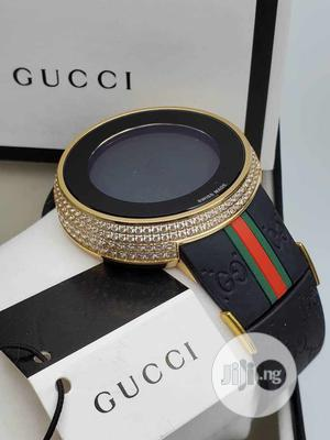 Gucci Digital Ice Head Gold Rubber Strap Watch | Watches for sale in Lagos State, Lagos Island (Eko)