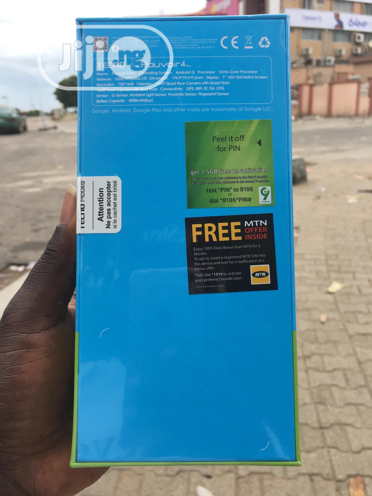 New Tecno Pouvoir 4 Pro 128 GB Black | Mobile Phones for sale in Wuse 2, Abuja (FCT) State, Nigeria