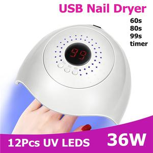 Nail Dryer LED UV Lamp Polish Acrylic Gel Curing Manicure | Tools & Accessories for sale in Lagos State, Surulere